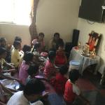 C.V.Raman Nagar Samithi in Bangalore Central Dist. doing National Narayana Seva at Jeevitha Anathaasharama