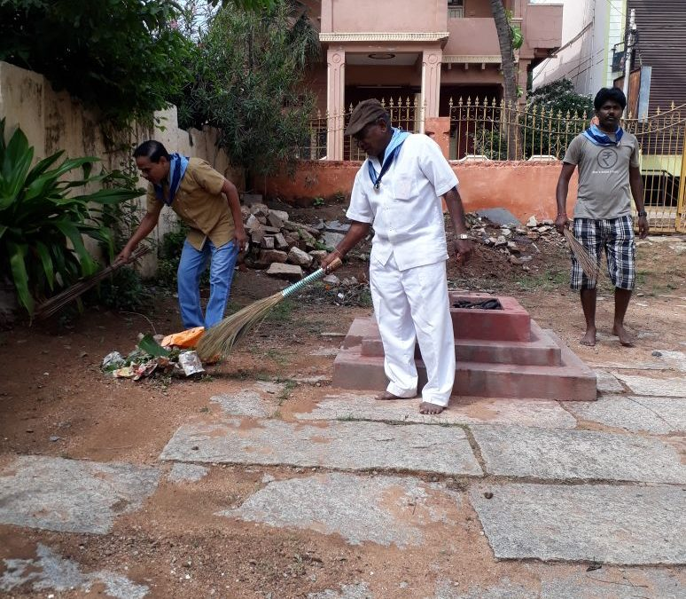 Temple cleaning @Hospet