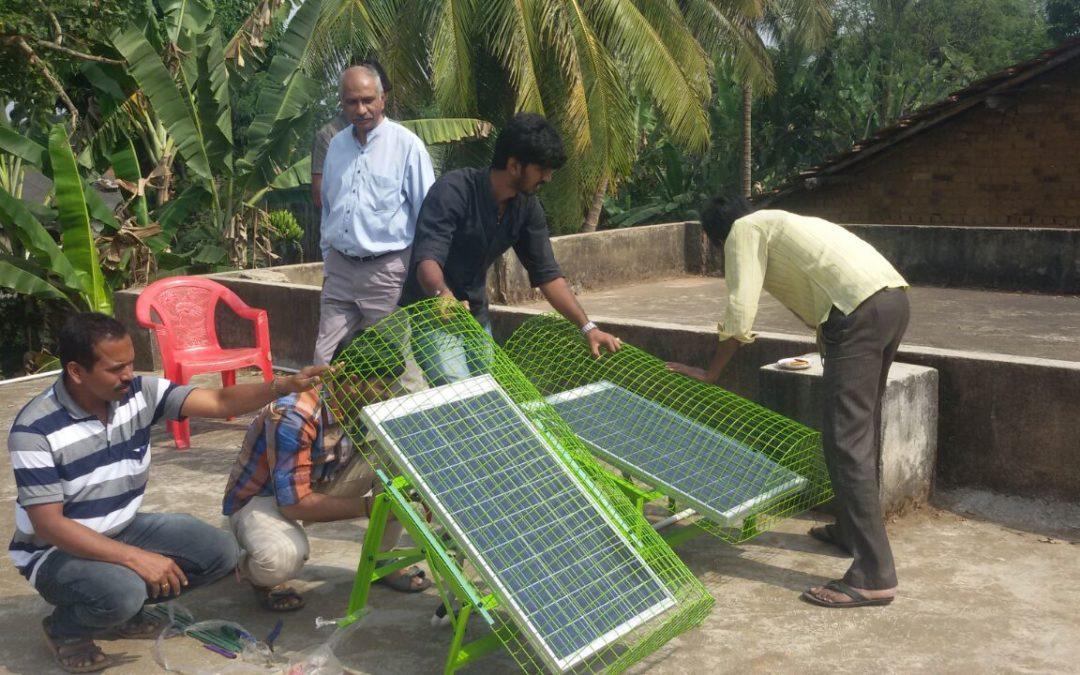 Solar Lamp Fixed @HPS, Alur, Haliyal,  North Kanara