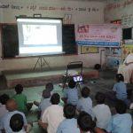 Video show at SSSVJ adopted school, Ballari