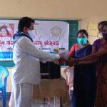 Distribution of books, mask and one Computer to adopted SSSVJ school, Thirtahalli , Shivamogga Dist
