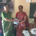 Reusable bag distribution @ SSSVJ School, Dakshina Kannada
