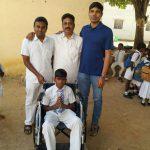 Wheel chair to Orphan school